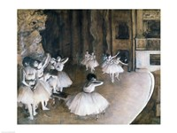 Ballet Rehearsal on the Stage, 1874 Fine Art Print