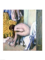 After the Bath, Woman Drying her Left Foot, 1886 Fine Art Print
