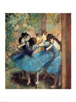Dancers in Blue, 1890 Framed Print