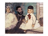 Comte Le Pic and his Sons Fine Art Print