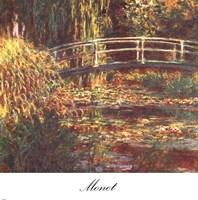 Le Bassin aux Nympheas: Harmonie Rose Fine Art Print