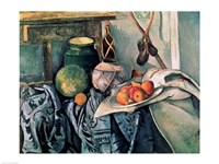 Still Life with Pitcher and Aubergines Fine Art Print