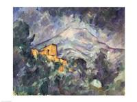 Montagne Sainte-Victoire and the Black Chateau Fine Art Print