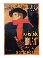 Ambassadeurs: Aristide Bruant, 1892 Fine Art Print
