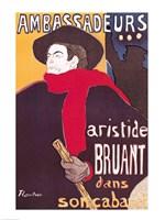 Poster advertising Aristide Bruant Fine Art Print