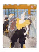 The Clownesse in the Moulin Rouge, 1897 Fine Art Print