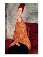 Jeanne Hebuterne in a Yellow Jumper, 1918-19 Fine Art Print