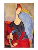 Mme Hebuterne in a Blue Chair, 1918 Fine Art Print