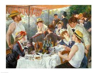 The Luncheon of the Boating Party, 1881 Fine Art Print