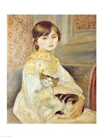 Julie Manet with Cat, 1887 Framed Print
