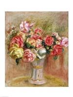 Roses in a Sevres vase Framed Print
