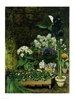 Flowers in a Greenhouse, 1864 Fine Art Print
