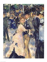 Ball at the Moulin de la Galette, 1876 - close up Fine Art Print