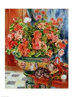 Geraniums and Cats, 1881 Fine Art Print