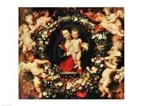 Virgin with a Garland of Flowers, c.1618-20 Fine Art Print