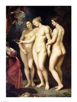 The Medici Cycle: Education of Marie de Medici, detail of the Three Graces Fine Art Print