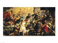 The Apotheosis of Henri IV and the Proclamation of the Regency of Marie de Medici Fine Art Print
