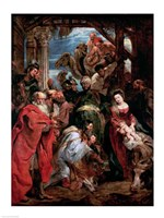 Adoration of the Magi, 1624 Fine Art Print