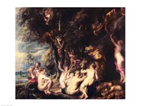 Nymphs and Satyrs Fine Art Print