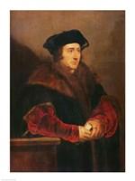 Portrait of Sir Thomas More Fine Art Print