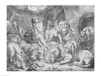 Daniel in the lions' den Fine Art Print