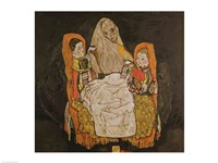 Mother with Two Children Fine Art Print