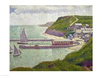 Harbour at Port-en-Bessin at High Tide, 1888 Fine Art Print
