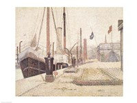 La Maria at Honfleur, 1886 Fine Art Print