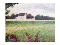 Landscape in the Ile-de-France, 1881-82 Fine Art Print
