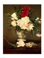 Vase of Peonies on a Small Pedestal, 1864 Fine Art Print