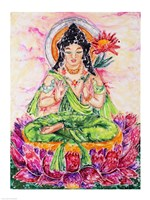 Flower Buddha Fine Art Print