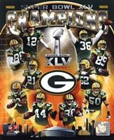 Green Bay Packers Super Bowl XLV Champions Composite (Vertical) Fine Art Print