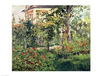 The Garden at Bellevue, 1880 Fine Art Print