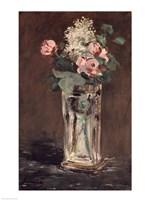 Flowers in a Crystal Vase Fine Art Print