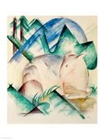 Sleeping Deer Fine Art Print