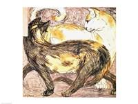 Two Cats - sketch Fine Art Print