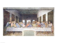 The Last Supper, 1495-97 (post restoration) Fine Art Print