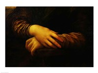 Mona Lisa, detail of her hands Fine Art Print