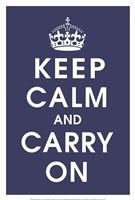 Keep Calm (navy) Fine Art Print