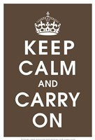 Keep Calm (chocolate) Fine Art Print