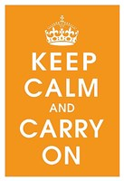 Keep Calm (orange) Fine Art Print