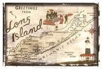 Greetings from Long Island Framed Print