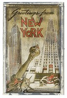 Greetings from New York Fine Art Print