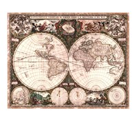 World Map, 1660 Fine Art Print