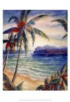 Tropical Breeze I - palm trees Fine Art Print