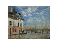 A Boat During the Flood at Port Marly, 1876 Fine Art Print