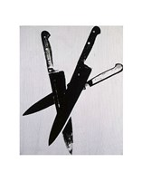 Knives, c.1981-82 (three black) Fine Art Print
