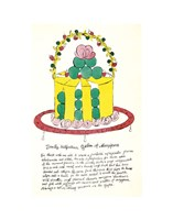 Wild Raspberries by Andy Warhol and Suzie Frankfurt, 1959  (yellow and green) Fine Art Print