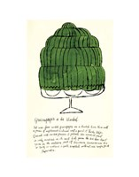 Wild Raspberries by Andy Warhol and Suzie Frankfurt, 1959  (green) Fine Art Print