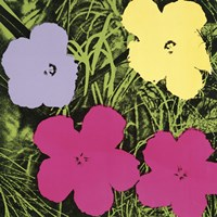 Flowers, 1970 (1 purple, 1 yellow, 2 pink) Fine Art Print